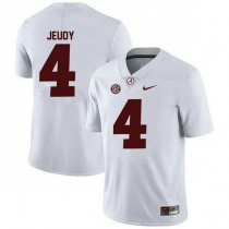 Youth Jerry Jeudy Alabama Crimson Tide #4 Authentic White Colleage Football Jersey 102
