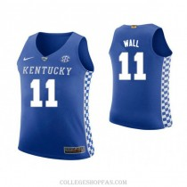 Youth John Wall Kentucky Wildcats #11 Authentic Blue College Basketball Jersey