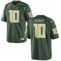 Youth Justin Herbert Oregon Ducks #10 Game Green College Football Jersey 102