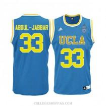Youth Kareem Abdul Jabbar Ucla Bruins #33 Authentic Adidas College Blue Basketball Jersey