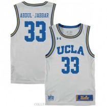 Youth Kareem Abdul Jabbar Ucla Bruins #33 Authentic White College Basketball Jersey