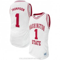 Youth Klay Thompson Washington State #1 Authentic White College Basketball Jersey