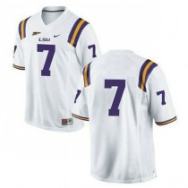 Youth Leonard Fournette Lsu Tigers #7 Authentic White College Football Jersey No Name 102