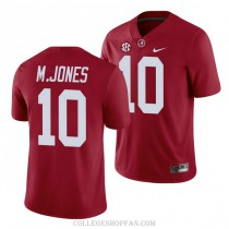Youth Mac Jones Alabama Crimson Tide #10 Authentic Red College Football Jersey