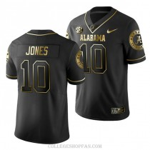 Youth Mac Jones Alabama Crimson Tide #10 Limited Black College Football Jersey