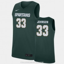 Youth Magic Johnson Michigan State Spartans #33 Authentic Blue College Basketball Jersey