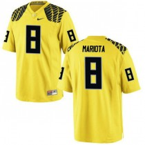Youth Marcus Mariota Oregon Ducks #8 Limited Yellow College Football Jersey 102