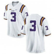 Youth Odell Beckham Jr Lsu Tigers #3 Authentic White College Football Jersey No Name 102