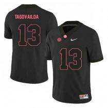 Youth Tua Tagovailoa Alabama Crimson Tide #13 Authentic Black Colleage Football Jersey 102