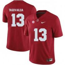 Youth Tua Tagovailoa Alabama Crimson Tide #13 Authentic Red Colleage Football Jersey 102
