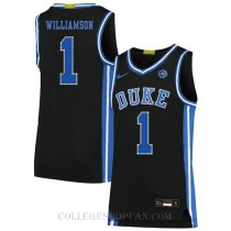 Zion Williamson Duke Blue Devils #1 Authentic College Basketball Mens Jersey Black