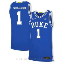 Zion Williamson Duke Blue Devils #1 Authentic College Basketball Mens Jersey Blue