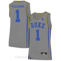 Zion Williamson Duke Blue Devils #1 Swingman College Basketball Mens Jersey Grey