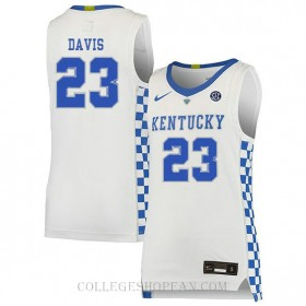 Anthony Davis Kentucky Wildcats #23 Authentic College Basketball Youth Jersey White