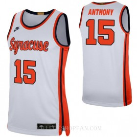 Carmelo Anthony Syracuse Orange #15 Authentic College Basketball Youth Jersey White