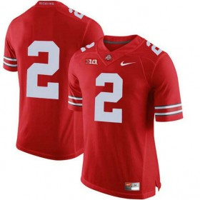 Mens Chase Young Ohio State Buckeyes #2 Authentic Red College Football Jersey No Name 102