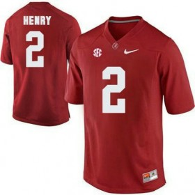 Mens Derrick Henry Alabama Crimson Tide Authentic Red Colleage Football Jersey 102