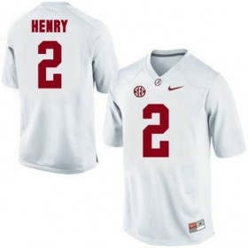 Mens Derrick Henry Alabama Crimson Tide Game White Colleage Football Jersey 102