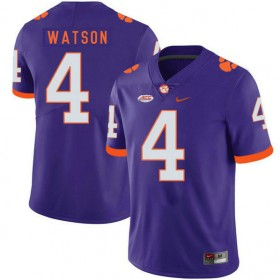 Mens Deshaun Watson Clemson Tigers #4 Game Purple Colleage Football Jersey 102
