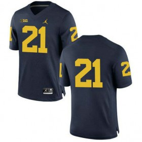 Mens Desmond Howard Michigan Wolverines #21 Limited Navy College Football Jersey No Name 102