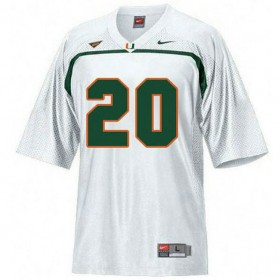 Mens Ed Reed Miami Hurricanes #20 Game White College Football Jersey 102