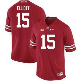 Mens Ezekiel Elliott Ohio State Buckeyes #15 Game Red College Football Jersey 102