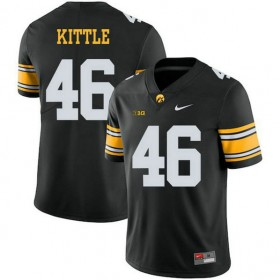 Mens George Kittle Iowa Hawkeyes #46 Limited Black Alternate College Football Jersey 102