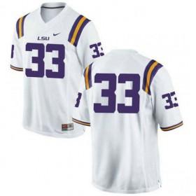 Mens Jamal Adams Lsu Tigers #33 Game White College Football Jersey No Name 102