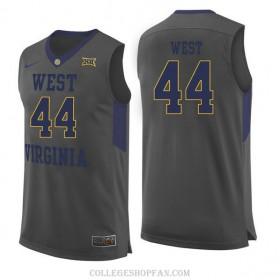 Mens Jerry West West Virginia Mountaineers #44 Swingman Gray College Basketball Jersey