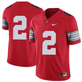 Mens Jk Dobbins Ohio State Buckeyes #2 Champions Authentic Red College Football Jersey No Name 102