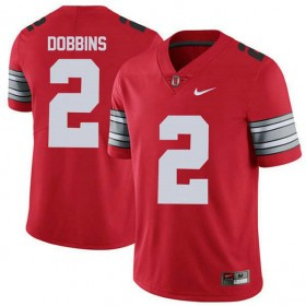 Mens Jk Dobbins Ohio State Buckeyes #2 Champions Game Red College Football Jersey 102