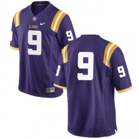 Mens Joe Burrow Lsu Tigers #9 Game Purple College Football Jersey No Name 102