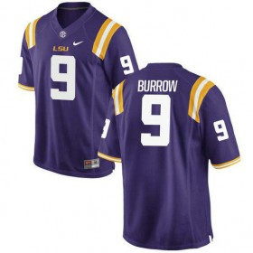 Mens Joe Burrow Lsu Tigers #9 Limited Purple College Football Jersey 102