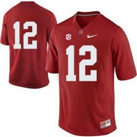Mens Joe Namath Alabama Crimson Tide #12 Game Red Colleage Football Jersey No Name 102
