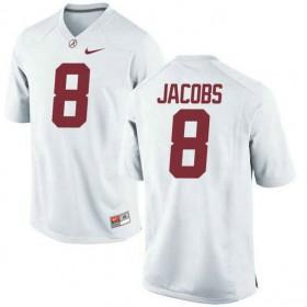 Mens Josh Jacobs Alabama Crimson Tide #8 Game White Colleage Football Jersey 102