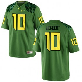 Mens Justin Herbert Oregon Ducks #10 Game Green Alternate College Football Jersey 102