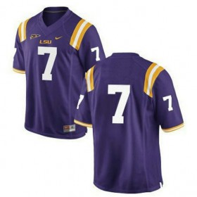 Mens Leonard Fournette Lsu Tigers #7 Game Purple College Football Jersey No Name 102