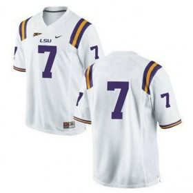 Mens Leonard Fournette Lsu Tigers #7 Game White College Football Jersey No Name 102