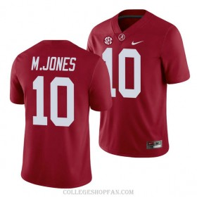 Mens Mac Jones Alabama Crimson Tide #10 Game Red College Football Jersey