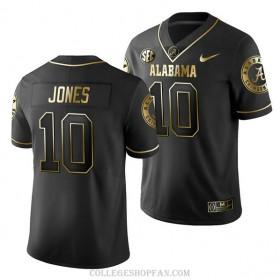 Mens Mac Jones Alabama Crimson Tide #10 Limited Black College Football Jersey