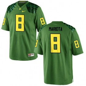 Mens Marcus Mariota Oregon Ducks #8 Game Green Alternate College Football Jersey 102