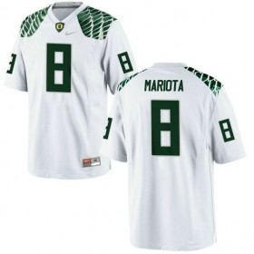 Mens Marcus Mariota Oregon Ducks #8 Game White College Football Jersey 102
