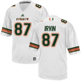 Mens Michael Irvin Miami Hurricanes #47 Authentic Orange White Football Adidas Jersey 102