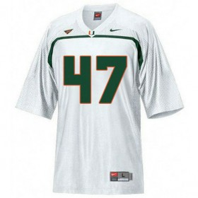 Mens Michael Irvin Miami Hurricanes #47 Authentic White College Football Jersey 102