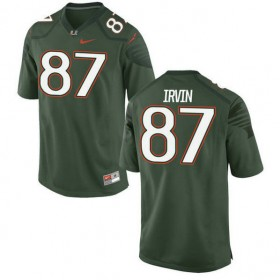 Mens Michael Irvin Miami Hurricanes #47 Game Green College Football Alternate Jersey 102