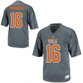 Mens Peyton Manning Tennessee Volunteers #16 Adidas Limited Grey Colleage Football Jersey 102