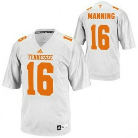 Mens Peyton Manning Tennessee Volunteers #16 Adidas Limited White Colleage Football Jersey 102