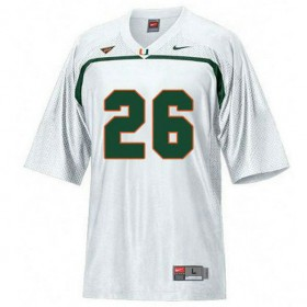 Mens Sean Taylor Miami Hurricanes #26 Game White College Football Jersey 102