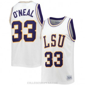 Mens Shaquille Oneal Lsu Tigers #33 Limited White College Basketball Jersey