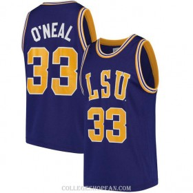 Mens Shaquille Oneal Lsu Tigers #33 Swingman Purple College Basketball Jersey